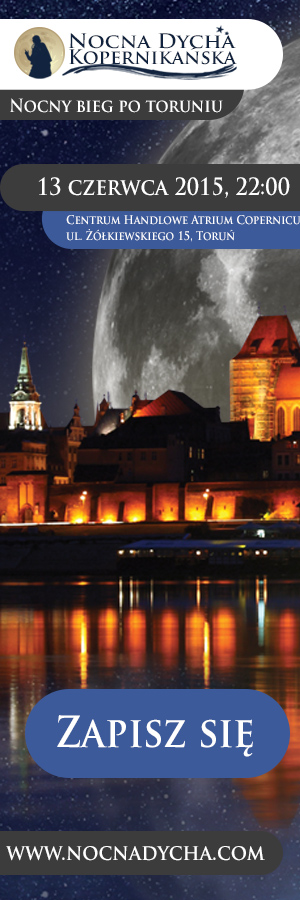 Nocny bieg po Toruniu
